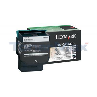 LEXMARK C540 C543 TONER CARTRIDGE BLACK RP 1K